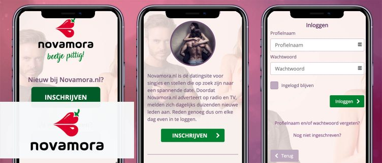 Screenshots NovaMora app